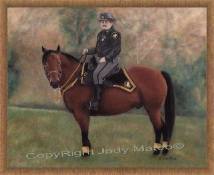 Ohio Deputy Sheriff with Police Horse Gus - ©Copyright - Jody Mateo