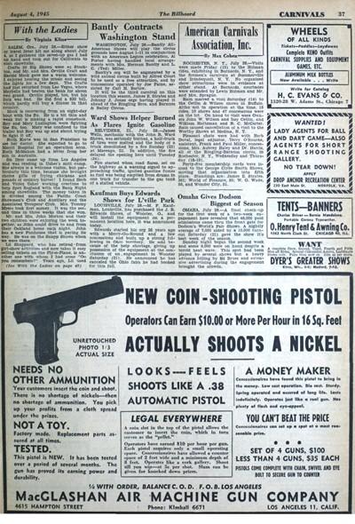 MacGlashan Coin Shooting Pistol Ad