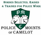 Horses trained for Police work